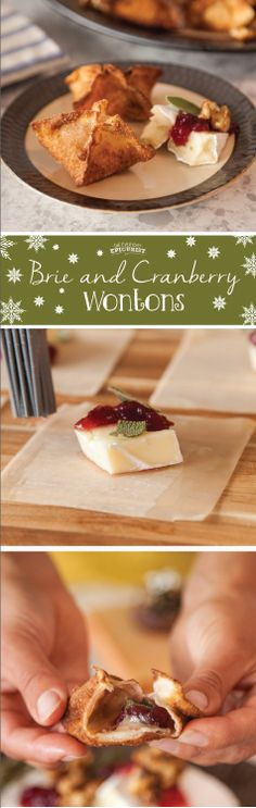 Since Thanksgiving is a food marathon, I wanted appetizers that would set the tone without filling one up. These cranberry and brie wontons do just that. Tart cranberry sauce, creamy brie and aromatic sage fry quickly in a wonton wrapper. You can even make these a day ahead of time (believe me, I did…twice!) and reheat in a hot oven before serving. They will crisp back up and taste just as good as if they were fried on the spot. I PROMISE.