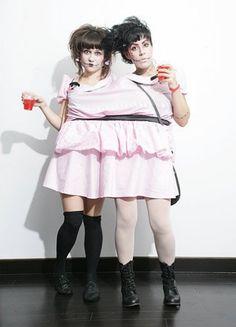 circus/ sideshow theme- Siamese twins