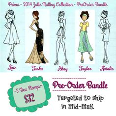 PreOrder the NEW 2014 Julie Nutting Doll Stamps at CrazyCraftyCreators, $32.00