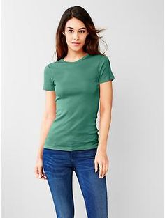 New modern crew tee - Extra soft and comfy cotton-modal blend that drapes perfectly; this slimming new modern tee will be your new staple.