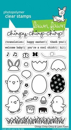 Chirpy chirp chirp lawn fawn stamps