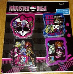 MONSTER HIGH Party Favors Freaky Fab Memo Pads 20 Pieces NEW