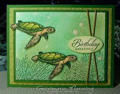 Wetlands, By the Tide, From Land to Sea, Birthday Card, Masculine, Stampin' Everything, Stampin' Up, Sea Turtles, Stampin' Royalty