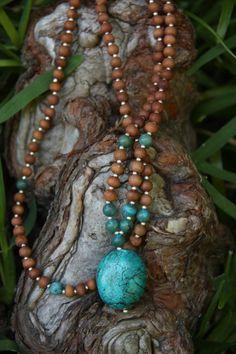 Turquoise Mala by malasanmore on Etsy, $36.00