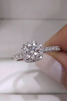 White Gold Engagement Rings To Conquer Your Love ★ See more: https://ohsoperfectproposal.com/white-gold-engagement-rings/ #nails