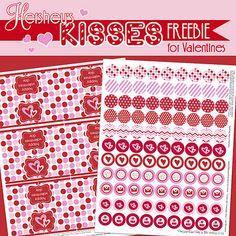 FREE valentine printables - hershey kiss circles & tags ... PLUS more free printables
