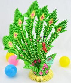 hot sale3d Origami pfau übergeben von Origami papier gefaltet Papier/Endprodukt/dreieck/Origami papier