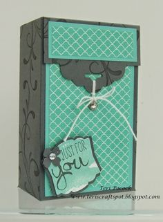 Stampin' Up! UK Demonstrator - Teri Pocock: Scallop Tag Topper Gift Box - Video Tutorial!