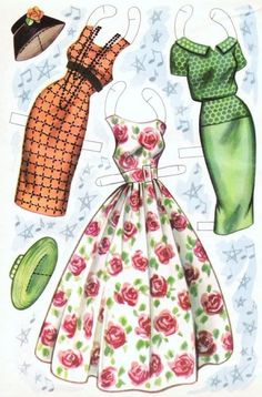 Polly Bergen Cut-Out Dolls w/ Dreses : 1957 Saalfield of Diy And Crafts, Arts And Crafts, Paper Crafts, Kids Crafts, Polly Bergen, Paper Doll Costume, Paper Dolls Printable, Paper People, Vintage Paper Dolls