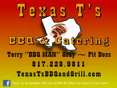 Real Texas BBQ right at your door. www.TexasTsBBQandGrill.com  #WheeDoggy