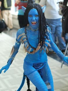Original black hair is the main element to rock the looks of #neytiri #avatar…