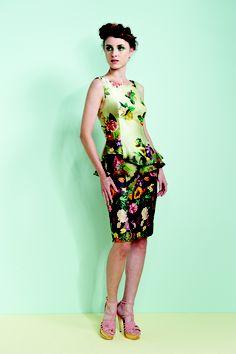 #barbara #bela floral peplum dress