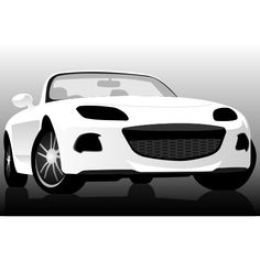 Mazda roadster. Free vector car illustration