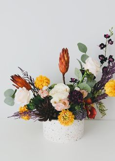 100 Boho Wedding Decor Finds You'll Love! | The Perfect Palette Fall Flowers, Exotic Flowers, Pretty Flowers, Dried Flowers, Fall Flower Pots, Flower Table, Boho Flowers, Potted Flowers, Cut Flowers