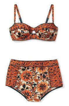 floral high waist bikini for summer