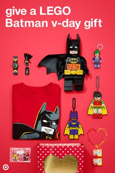 This Valentine's Day, gift your fave super hero kiddo this LEGO Batman pack filled with toys, t-shirts, M&M's and more.
