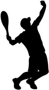 Silhouette Design Store: tennis serve - boy