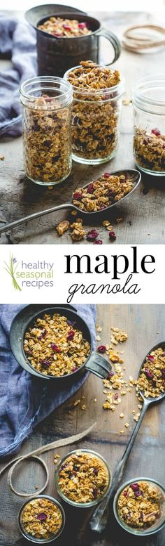 A easy and healthy home-made gift idea: Maple Granola with Walnuts and Cranberries on Healthy Seasonal Recipes by @healtyseasonal
