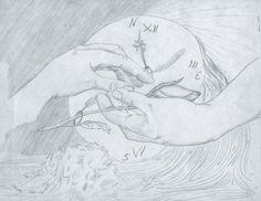 Detenidos entre tiempo y espacio. Composición con lápices Illustration, Space, Illustrations, Art