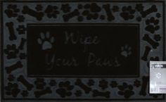 "Forte Wipe Your Paws Door Mat Flock Rubber by Home Dynamix, Size 18"" x 30"" by Home Dynamix. $21.49. Durable material. Non slip backing. Recycled Rubber. Solid Flock. Good for all weather conditions. Forte Outdoor Welcome Door Mat is made of durable solid flock and reycled rubber. The rugged materials provide for a long lasting product regardless of weather conditions. Wipe Your Paws theme, size: 18"" X 30"""