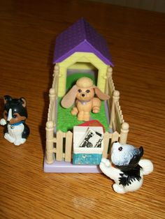 Vintage 1992 Littlest Pet Shop Puppy Dog Pals With Cozy Home Complete Play Set!