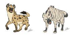 Hyenas~ by RoxiBeFox on DeviantArt