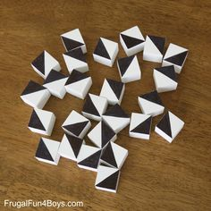 DIY Pattern Blocks - Frugal Fun For Boys