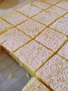 Martha Stewart rsquo s Luscious Lemon Bars Recipe: Martha Stewart's Luscious Lemon Bars. Discover our recipe. Lemon Desserts, Lemon Recipes, Just Desserts, Baking Recipes, Cookie Recipes, Dessert Recipes, Baking Tips, Bread Baking, Martha Stewart Recipes Cookies