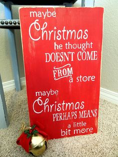 Christmas Sign Decor The Grinch Who Stole Christmas by WallsofWood, $30.00