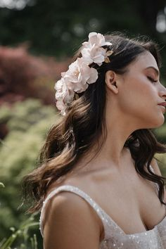 MONET bridal hair piece 8 Blush Bridal, Bridal Updo, Headpiece Wedding, Wedding Veils, Romantic Updo, Romantic Hairstyles, Wedding Hairstyles For Long Hair, Bridal Hairstyles, Monet Hair Products