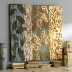 Detailed with leaves, the Abstract Leaves Oil Painting showcases natural beauty. Highlighted with gold, the Abstract Leaves Oil Painting is truly unforgettable. Diy Wand, Modern Art Paintings, Indian Paintings, Oil Paintings, Landscape Paintings, Oil Painting Abstract, Modern Oil Painting, Watercolor Artists, Painting Art