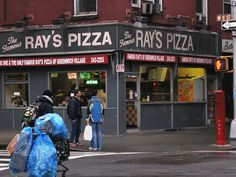"Eat ""real"" New York pizza. 
