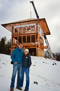 The Lookout – a new custom home in West Glacier Mountain Tiny House Cabin, Cabin Homes, Cabin Design, House Design, Cabin Tent, Tower House, A Frame House, Small Buildings, West Glacier