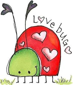Whipper Snapper Designs is an expansive online store selling a large variety of unique rubber stamp designs. Love Bugs, Watercolor Cards, Valentines Watercolor, Whimsical Art, Clipart, Rock Art, Doodle Art, Cute Drawings, Painted Rocks