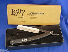 "Fromm #72r shaving Straight Razor 5/8"" round point , made in Germany This straight razor from Fromm features a 5/8"" hollow-ground carbon-steel blade, and comes in a handsome cardboard display box. Raz"