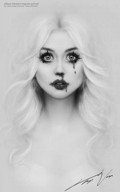 Allison Harvard inspired portrait, speed painting by Tanya Varga