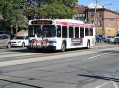 SEPTA New Flyer bus on Rt.57 on Girard Ave. Phila. 2016