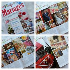 Hard copy of 'Mariages, idées et créations' has arrived from Paris featuring our handmade wedding on pages 92 - 97. Looks lovely in print!