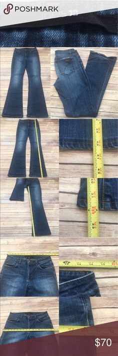 🏵Sz 27 Joe's Jeans Visionaire Denim Bootcut Jeans Measurements are in photos. Normal wash wear, shows some wear on the bottom hems, thin spot starting on the front, no other flaws. F3  ** soft broken in feel  I do not comment to my buyers after purchases, due to their privacy. If you would like any reassurance after your purchase that I did receive your order, please feel free to comment on the listing and I will promptly respond.   I ship everyday and I always package safely. Thank you for…