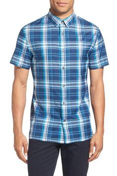 'Melrose' Plaid Short Sleeve Sport Shirt