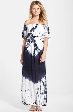 Fraiche by J Tie Dye Off Shoulder Maxi Dress available at #Nordstrom