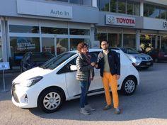 """Antonella è in partenza per zona """"Padulli"""" con una Toyota #Yaris 1.0 - Euro6 seminuova, grazie e complimenti!"""