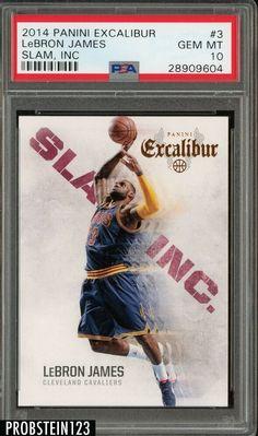 2014-15 Panini Excalibur Slam Inc #3 LeBron James Cleveland Cavaliers PSA 10 #LeBronJames #PSA10 #sportscards