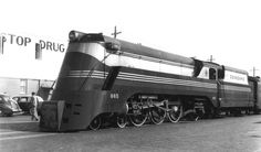 Seaboard Streamlined Class P engine 865 in St. Pete in 1943   Flickr - Photo Sharing!