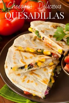 In just a few minutes you can create a delicious and cheesy meal for your family. All you need is tortilla's, cheese and your favorite ingredients to turn an average day into a tasty experience. #summerecipes #quesadillas #cheesy