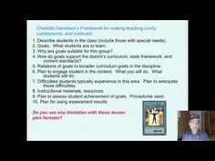 Problems with the Hunter/Danielson Lesson Plan Formats. This mini-lecture describes the problems with the Hunter and Danielson lesson plan formats.  Dr. Andy Johnson, WWW.OPDT-Johnson.com