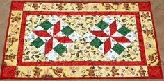 Christmas Table Runner Quilted Table Runner by RedNeedleQuilts