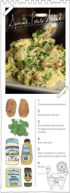 The Vegan Stoner's Spinach Potato Salad