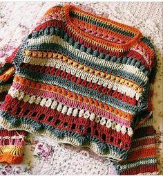 hippie style 774196992172161018 - Görüntünün olası içeriği: çizgiler Source by zmrttas Pull Crochet, Mode Crochet, Crochet Baby, Knit Crochet, Crotchet, Hippie Crochet, Crochet Jumpers, Hippie Style, Crochet Clothes