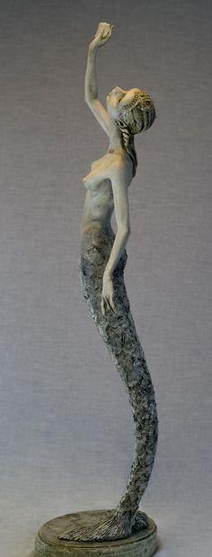 Catching The Light | by Hannie Sarris-Hulstein | Sculpted from Papydur and Premix clay. Fairy Fantasy Art.